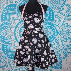 Hell Bunny Cat Halter Pinup Retro 50s Dress S Cats